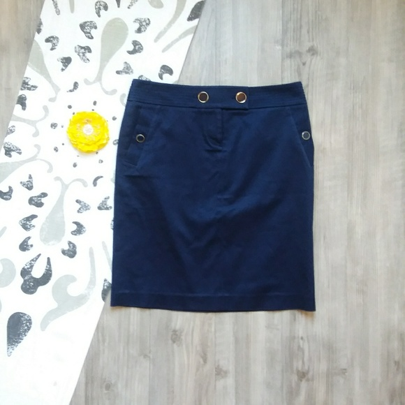 J. Crew Dresses & Skirts - J. Crew | Navy Button-Detail Skirt